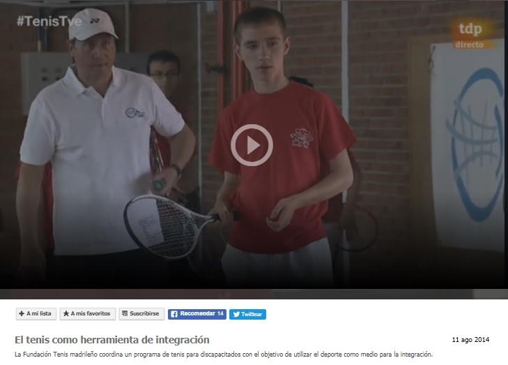 El Tenis como herramienta de integración- RTVE- Telediario