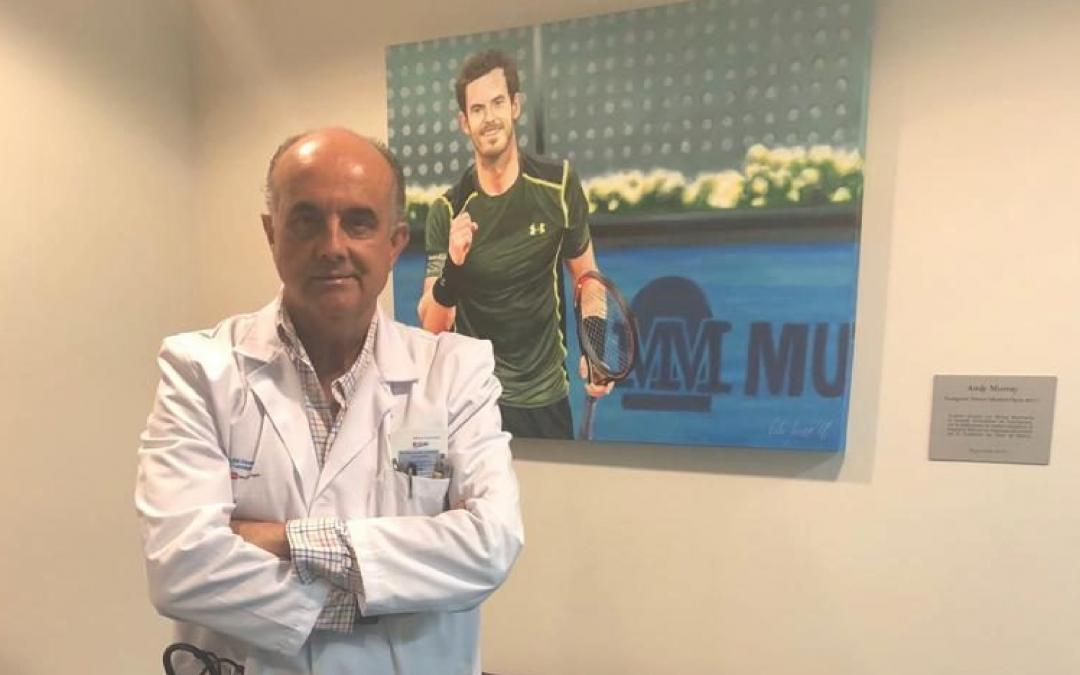 MUTUA MADRILEÑA DONA UN CUADRO DE ANDY MURRAY A LA FUNDACIÓN DEL TENIS MADRILEÑO